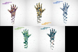 Futuristic model of hand dna