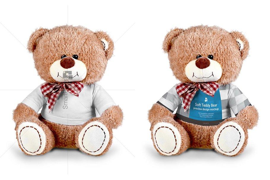 Teddy Bear Dress Design Mockup Creative Product Mockups