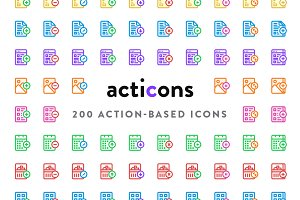Acticons - 200 Action-Based Icons