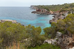 Coastline of Mallorca.