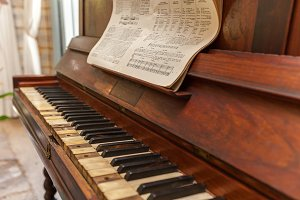 Old piano.