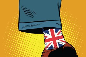 hipster socks with the British flag