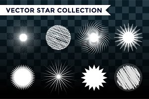 Star burst, star logo vector