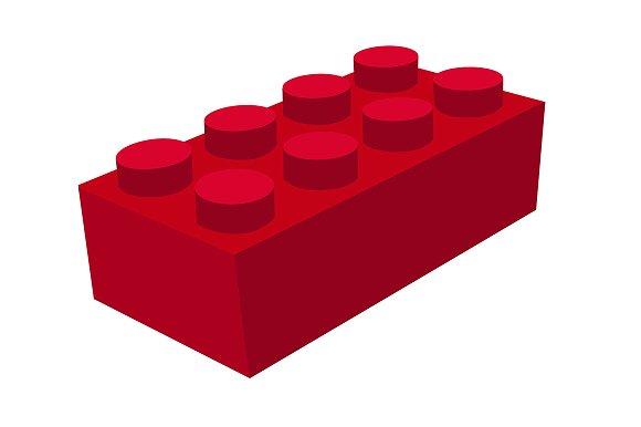 Lego brick vector illustrations creative market stopboris Gallery