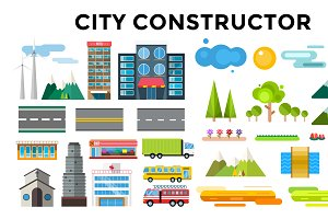 Architecture small town vector