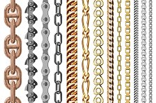 Chains link vector seamless