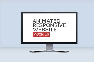Animated Responsive Website Mock-Up
