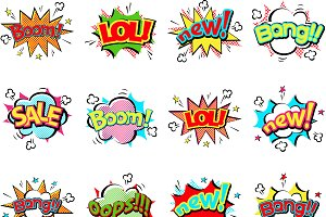 Pop art comic speech bubble vector