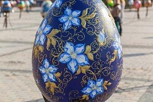 Big painted egg.