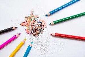 Crayons and peelings, RGB vc CMYK