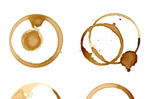 Coffee staiin spots splashes vector
