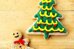 Ginger bread and christmas tree