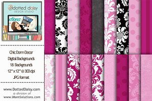 Chic Dorm Decor Digital Backgrounds