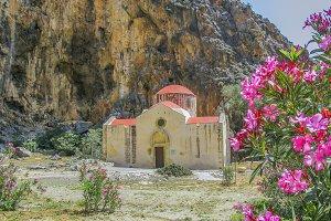 Old Byzantine church in Greek gorge