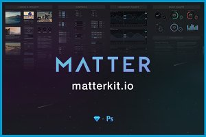 Matter UI Kit for Sketch & Ps