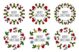 Christmas wreath round