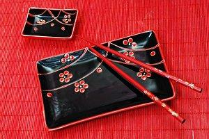 set of black chinese
