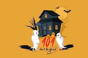 Halloween 404 Error Page