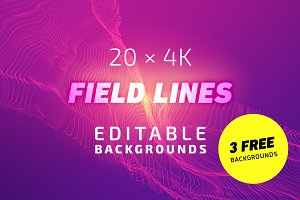 20x4K FieldLines Backgrounds 1