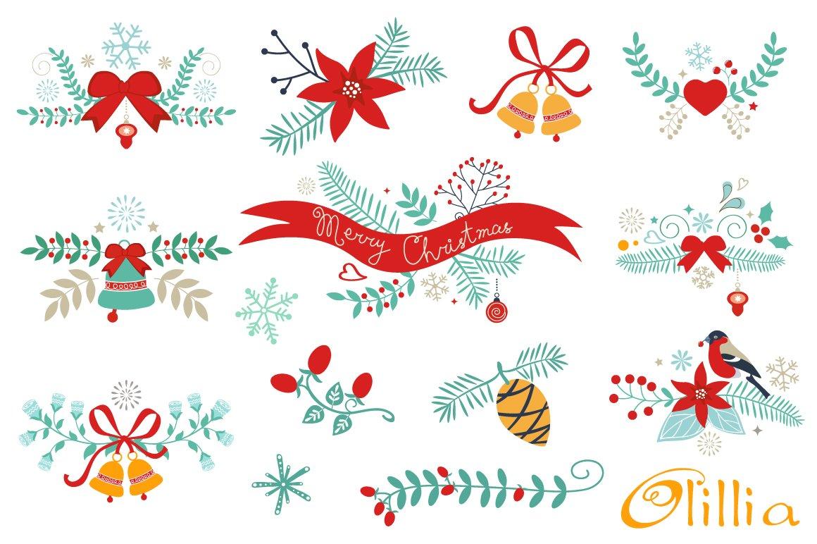 Christmas Graphic Elements Illustrations Creative Market