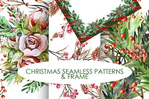 Christmas Patterns +Frame (png)
