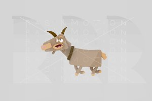 3d illustration. Goat.