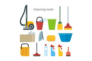 Cleaning Tools Isolated