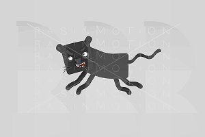 3d illustration. Panther.