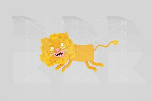 3d illustration. Lion.
