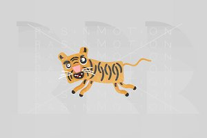 3d illustration. Tiger.