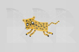3d illustration. Leopard.