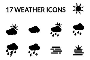 17 weather icons
