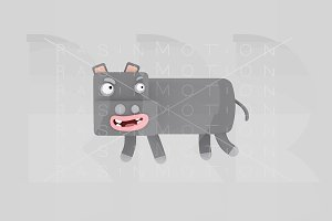 3d illustration. Hippopotamis.
