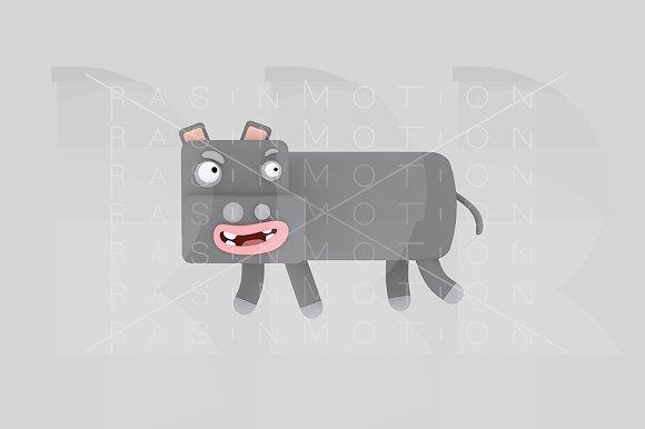 3d illustration. Hippopotamis. - Illustrations