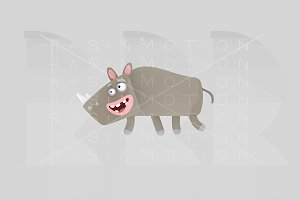 3d illustration. Rhino.