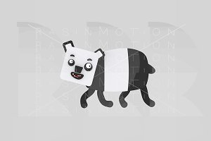 3d illustration. Panda.