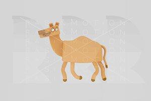 3d illustration. Camel.