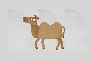 3d illustration. Dromedary.