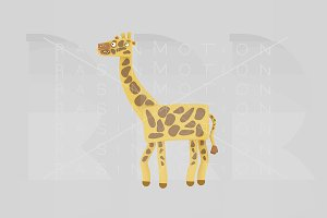 3d illustration. Giraffe.
