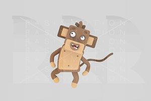 3d illustration. Monkey.