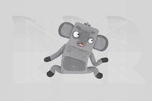 3d illustration. Koala.
