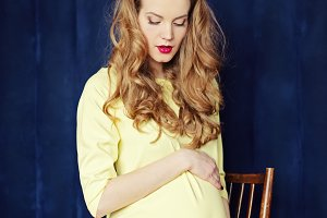 young beautiful pregnant woman