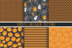 Halloween icons & patterns