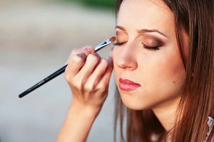 Woman making makeup