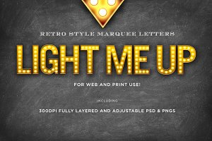 Light Me Up Retro Marquee Letters