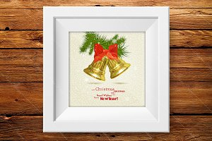 Christmas greeting card. New Year