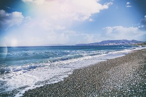 Mediterranean coast in Greece