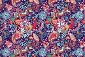 2 Seamless Ethnic Patterns