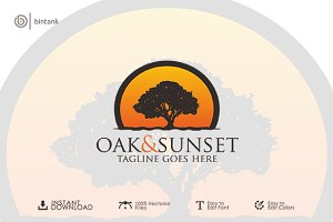 Oak & Sunset Logo