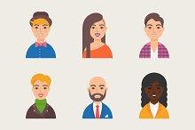 Set of vector avatars